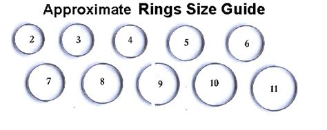 ring sizing template ring size guide
