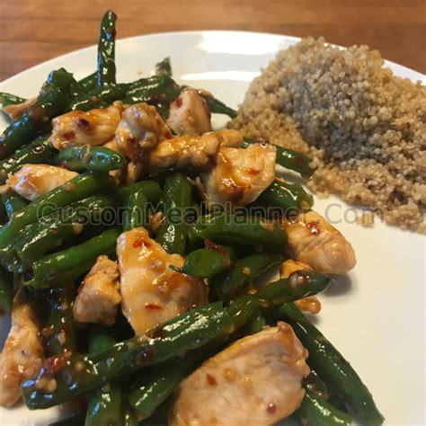chicken  green beans stir fry  quinoa