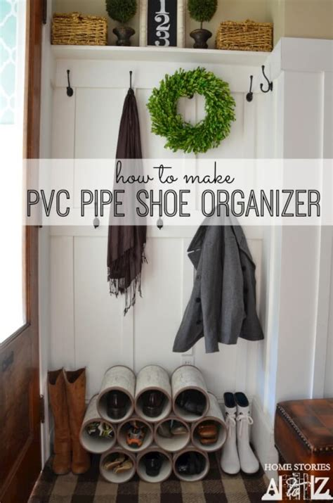 pvc shoe storage 17 diy mudroom entryway storage ideas for small