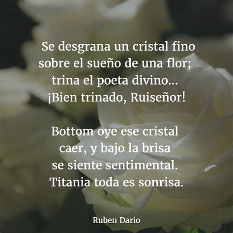 cual es el poema mas famoso de ruben dario y por que los mejores poemas de rub 201 n dar 205 o versos
