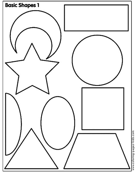Coloring Page Shapes by Shapes On Coloring Pages Shape And Bridges