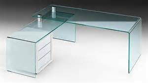 Glass Corner Desks Featured Design Rialto Isola Glass Desk Glassdomain