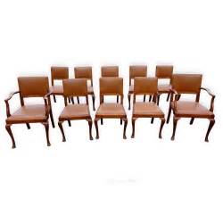 10 Chair Dining Set Set Of 10 Walnut Dining Chairs C 1930 S Antiques Atlas