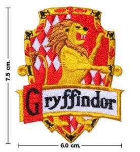 harry potter house gryffindor crest emblem embroidery