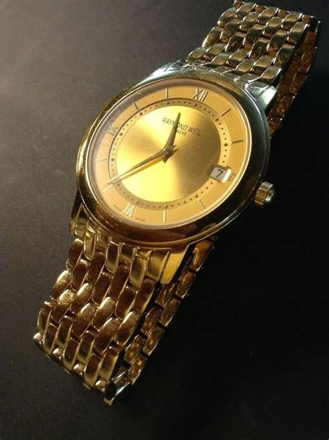 raymond weil 18k gold plated s model 5598