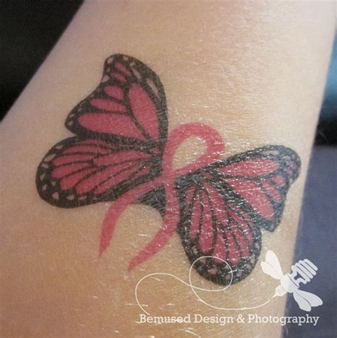 breast cancer butterfly tattoo temporary design 5 breast cancer butterflies