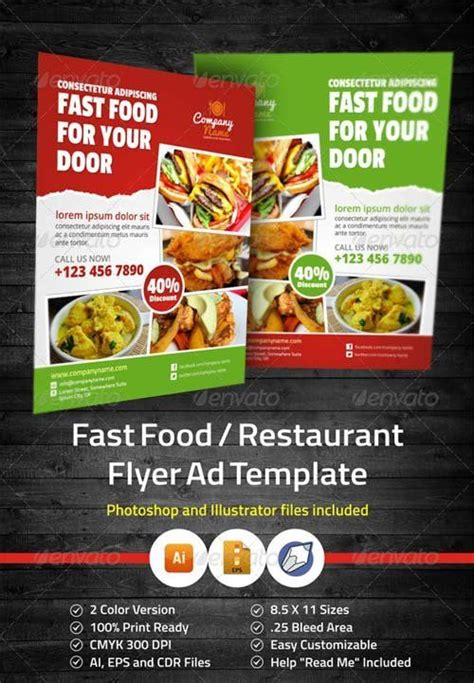 graphicriver fast food restaurant flyer ad template