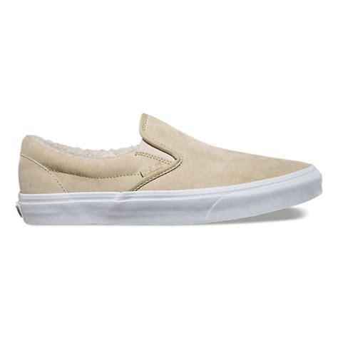 fleece slip ons suede fleece slip on shop shoes at vans