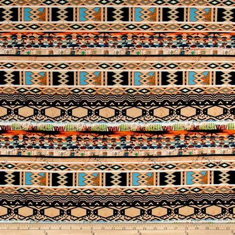 pattern jersey fabric ity brushed jersey knit tribal pattern orange black brown