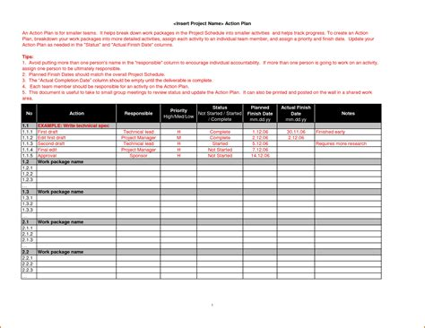 7 action plan template word authorizationletters org