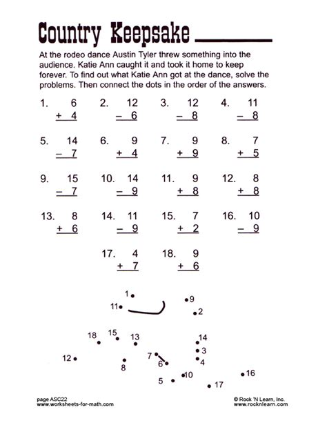 free printable touch math worksheets search results