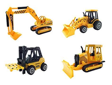 Mainan Die Cast Mini Contruction Car 4pcs liberty imports set of 4 construction vehicles diecast metal playset 5 inch forklift