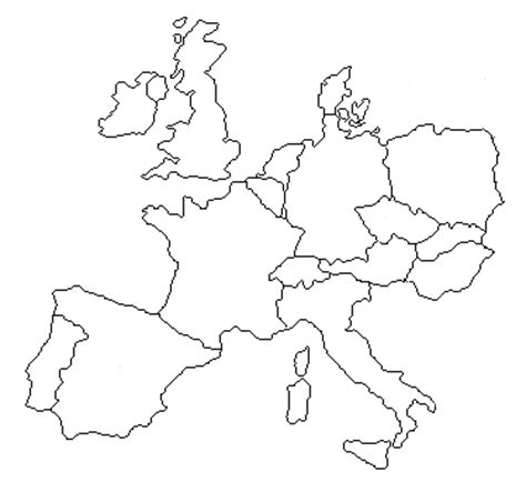 Europe 1500 Outline Map by Post Not Really Jamesbresnahan S