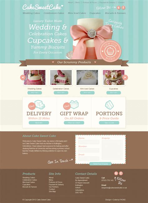 trendy bakery website design inspiration duoparadigms