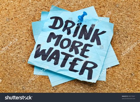 hydration notes drink more water hydration reminder handwriting stock
