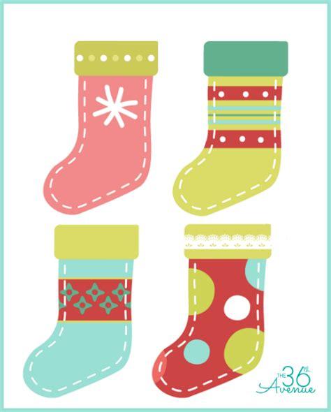 Printable Images Of Christmas Stockings | diy christmas stocking printable the 36th avenue
