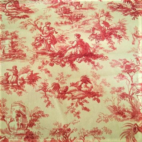 country french upholstery fabric upholstery fabric drapery fabric yellow red french toile