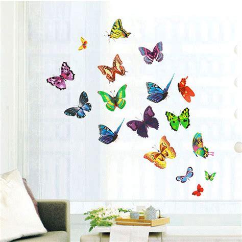 Wallpaper Sticker Uk 45cmx10m diy 17 butterflies wall stickers mural decals