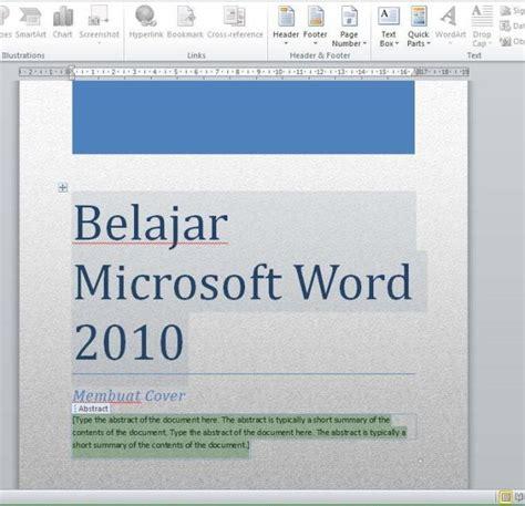 membuat halaman ms word 2010 cepat membuat halaman cover pada word 2010