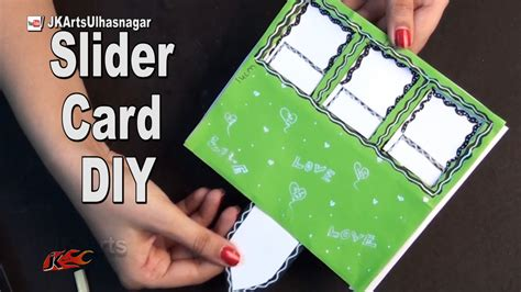 how to make a photo card diy slider card with windows for scrapbook how to make