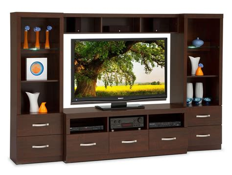 wall unit furniture selkirk 4 piece entertainment wall unit java leon s
