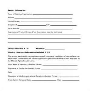 vendor contract template 7 download free documents in