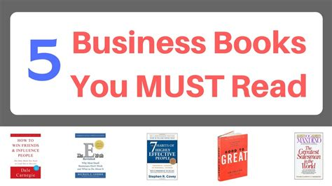 Free To Read Mba Books by Top 5 Business Books You Must Read