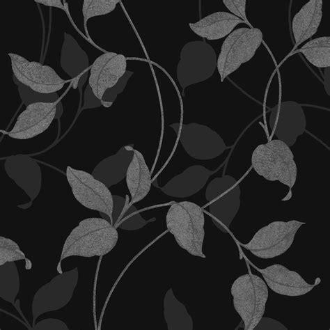 wallpaper black leaf arthouse capriata leaf heavyweight vinyl wallpaper
