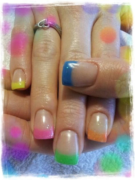 colored tips multi colored tips nails i ve done
