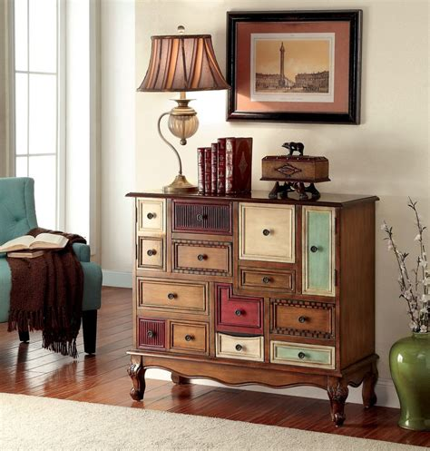 Surya Home Decor furniture of america ac149 multi color drawer accent chest