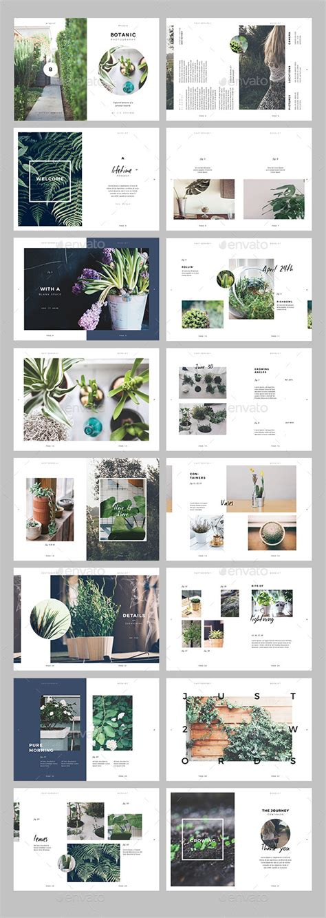 document layout pinterest botanic multipurpose creative portfolio by pagebeat