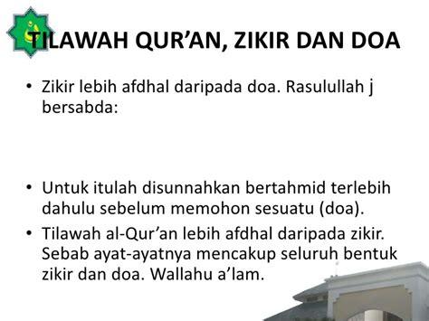 Cd Doa Terbaik Memohon Unan zikir dan keutamaannya