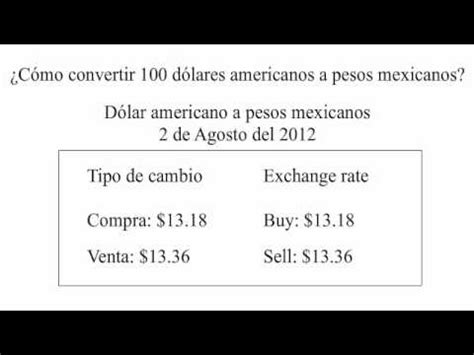 cuanto es un dolar en pesos 191 c 243 mo convertir de d 243 lares americanos a pesos mexicanos