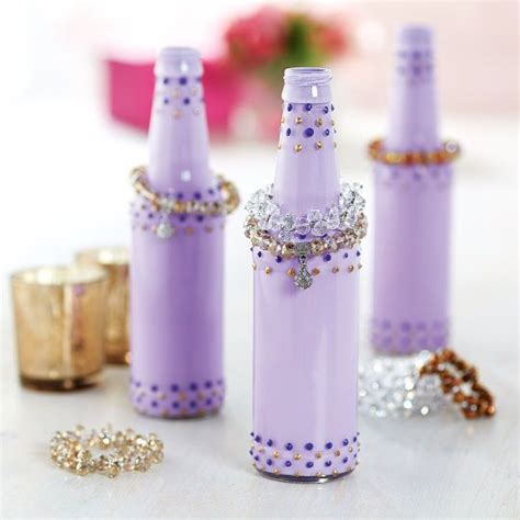 Display your bracelets on these glamorous Soda Bottle Jewelry Holders.   Granddaughters   Pinterest