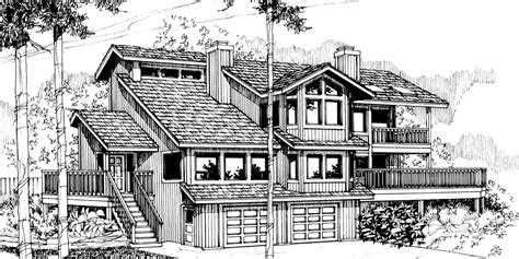 view lot house plans house plans view sloping lot