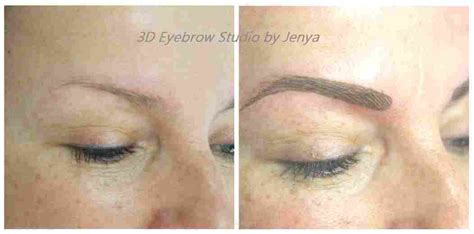 tattoo eyebrows montreal 3d eyebrow tattoo feathering technique services