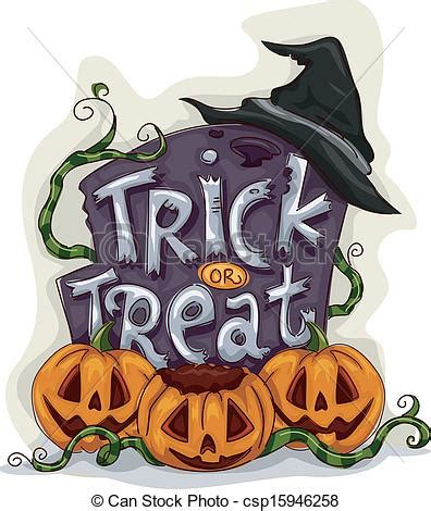 Trick Or Treat Graphic 15 clipart vector of trick or treat tombstone