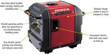 Honda 3000 Watt Generator Free Shipping Honda Eu3000is Portable Inverter Generator