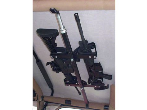 tactical jeep interior redrock 4x4 wrangler quick draw overhead gun rack for