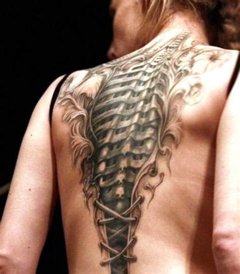tattoo pictures in the back biomechanical back tattoo
