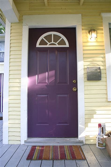 purple front door picture of purple front door design