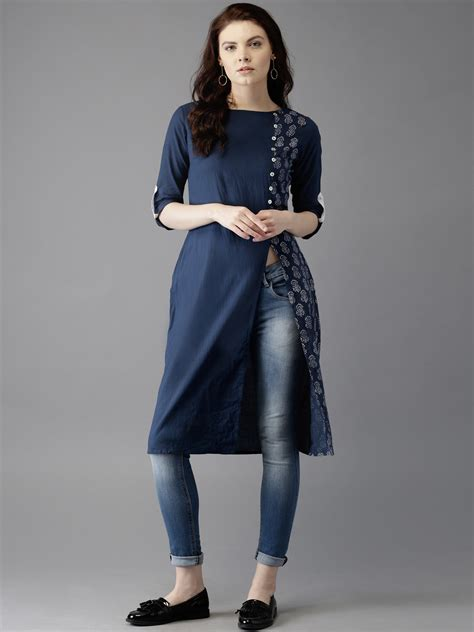 kurta pattern jeans latest kurta with jeans trends around the glob