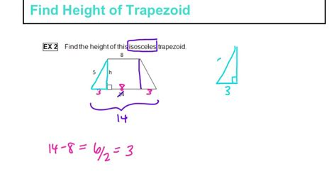 How To Find To With Find Height Of Trapezoid