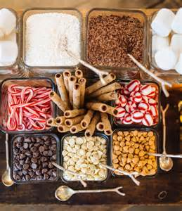 coffee bar toppings how to create a hot chocolate bar for your wedding this