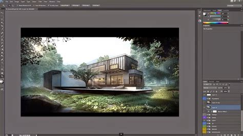 Adobe Photoshop Architecture Tutorial | architectural post production tutorial compositing and