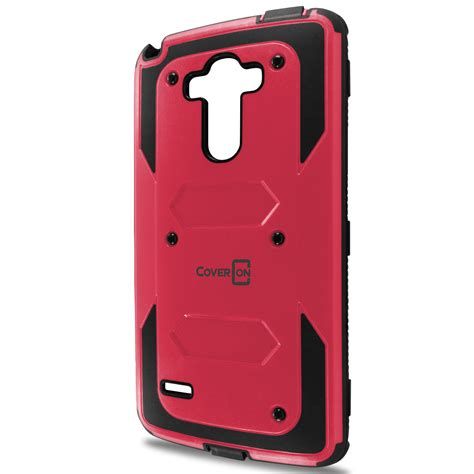 rugged phone cases rugged hybrid armor phone cover with screen protector for lg g stylo ebay