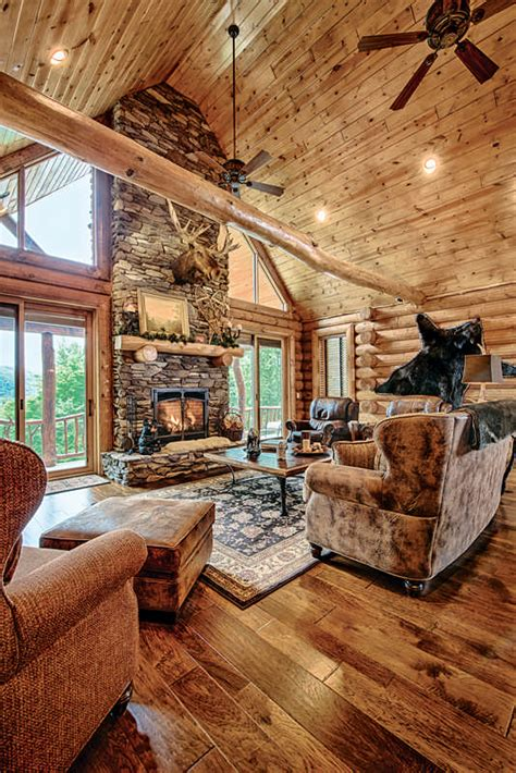 Log Homes Interior Designs a vacation log home in new hampshire