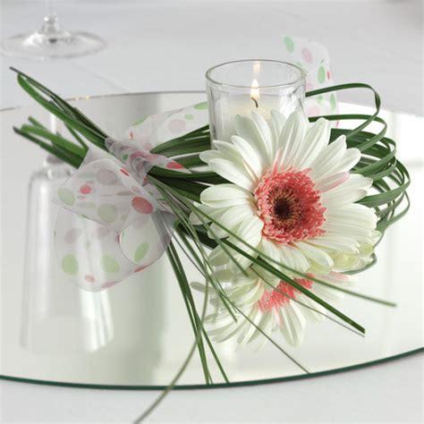 Single Flower Vase Centerpiece by Gerbera Wedding Centerpieces Single Gerbera