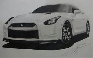 Nissan Gtr Drawing Draw Nissan Gtr
