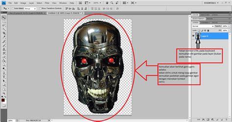 tutorial efek lego pada wajah tutorial membuat efek terminator pada wajah di photoshop